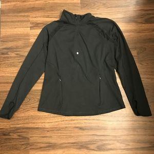 [Lucy] Black Quarter Zip Pullover Size L